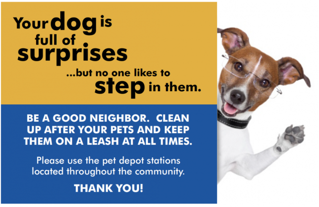 pet sign for neighbors